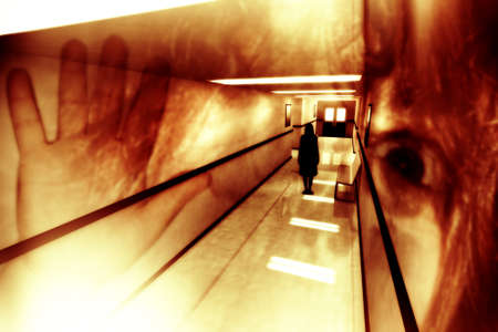 3d scary: Scary Horror Hospital Corridor 3D artwork