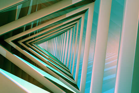continuum: Triangle Tunnel 3D Illustration