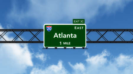 interstate: Atlanta USA Interstate Highway Sign