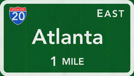 interstate: Atlanta USA Interstate Highway Sign