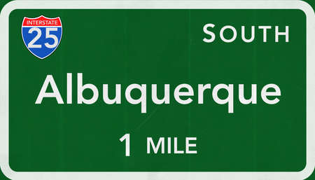 albuquerque: Albuquerque USA Interstate Highway Sign
