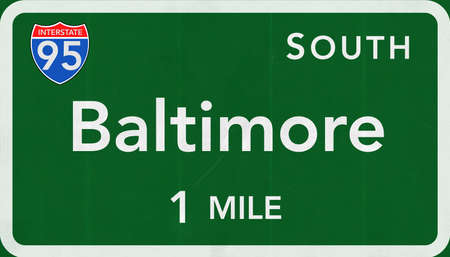 interstate: Baltimore USA Interstate Highway Sign