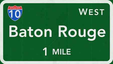 baton rouge: Baton Rouge  USA Interstate Highway Sign