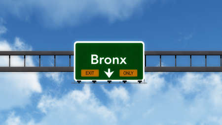 bronx: Bronx USA Highway Exit Only Sign