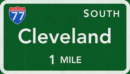 interstate: Cleveland  USA Interstate Highway Sign