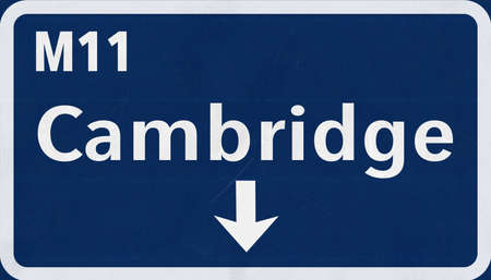united kingdom: Cambridge  United Kingdom England Highway Road Sign