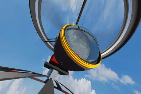 high end: C�mara de alta Fin Broadcast trabajo Drone 3D