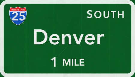 denver: Denver USA Interstate Highway Sign