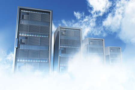 Cloud Servers Computing Creative Concept Standard-Bild