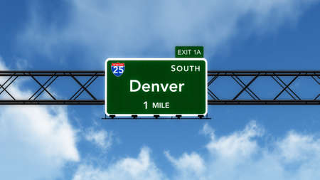 denver colorado: Denver USA Interstate Highway Sign