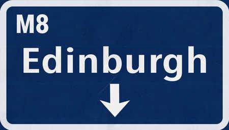 edinburgh: Edinburgh United Kingdom Scotland Highway Road Sign