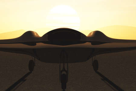 the sentinel: Sentinel Type Drones Base 3D artwork Stock Photo
