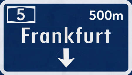 frankfurt: Frankfurt  Germany Highway Road Sign