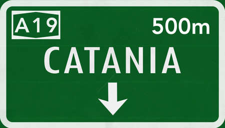 Catania Italy Highway Road Sign
