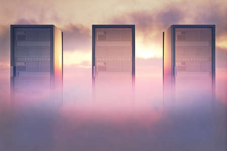Cloud Servers Computing Creative Concept Stock Photo