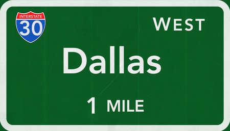 interstate: Dallas  USA Interstate Highway Sign