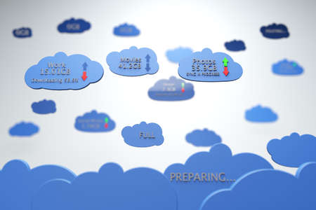 Cloud Servers Computing Creative Concept Stock Photo