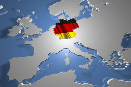 deutschland karte: Deutschland Karte auf Kontinent