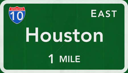 interstate: Houston USA Interstate Highway Sign