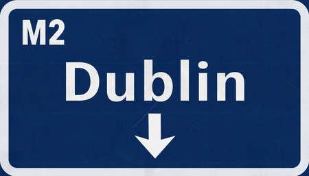 irish cities: Dublin United Kingdom Ireland Highway Road Sign