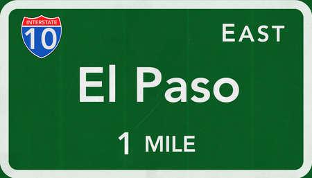 interstate: El Paso USA Interstate Highway Sign