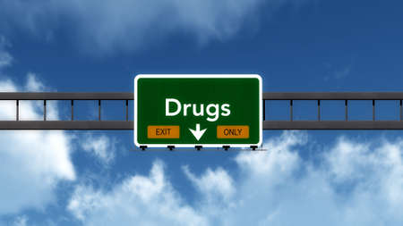 only: Drugs Highway Road Sign Exit Only Concept