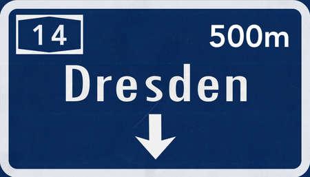 Dresden Germany Highway Road Sign