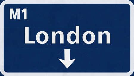 London United Kingdom England Highway Road Sign