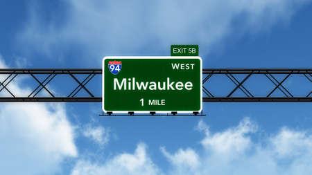 milwaukee: Milwaukee USA Interstate Highway Sign
