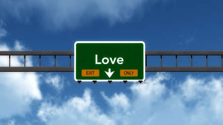 highway love: Love Highway Road Sign Exit Only Concept