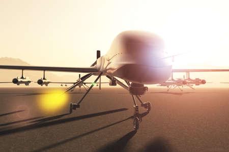 drones: Opere d'arte militare Predator Tipo Drones Base 3D Archivio Fotografico