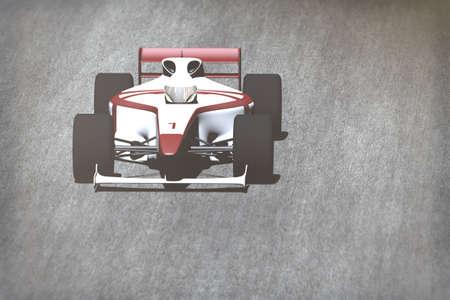 indy: Indy Car on Race Track 3D artwork render