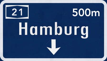hamburg: Hamburg  Germany Highway Road Sign
