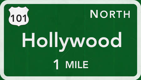 north hollywood: Hollywood USA Interstate Highway Sign