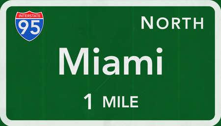 interstate: Miami USA Interstate Highway Sign