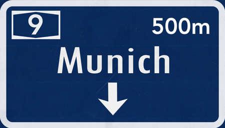 munich: Munchen Munich Germany Highway Road Sign
