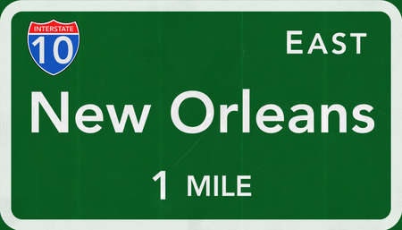 orleans: New Orleans USA Interstate Highway Sign