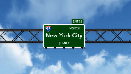 interstate: New York City USA Interstate Highway Sign