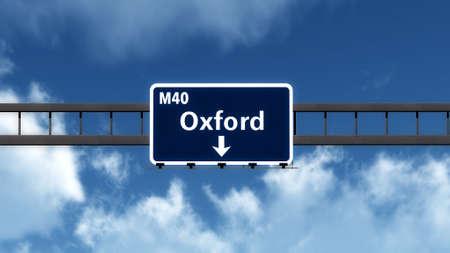 Oxford United Kingdom England Highway Road Sign