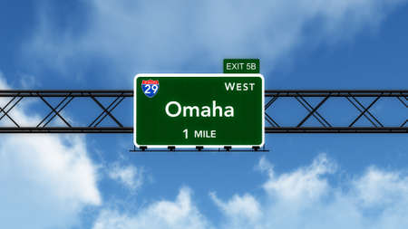 omaha: Omaha USA Interstate Highway Sign Stock Photo