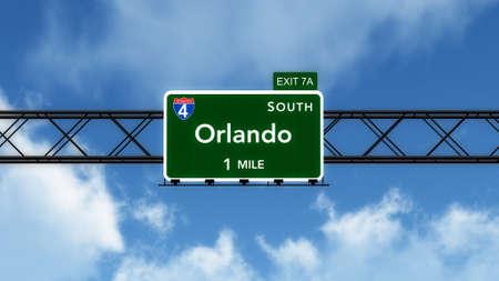 orlando: Orlando USA Interstate Highway Sign