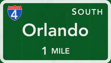 interstate: Orlando USA Interstate Highway Sign
