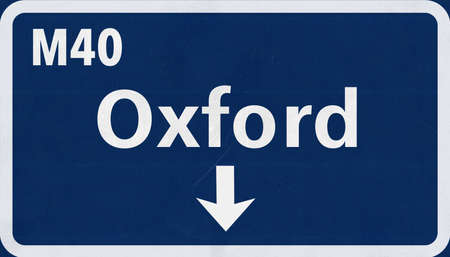 oxford: Oxford United Kingdom England Highway Road Sign