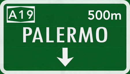 palermo: Palermo Italy Highway Road Sign