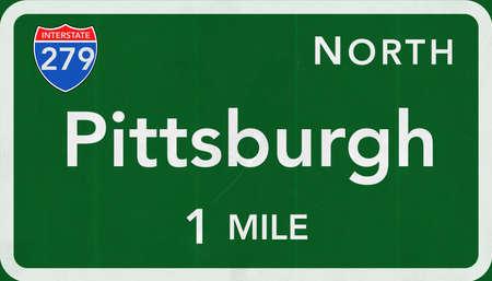 interstate: Pittsburgh USA Interstate Highway Sign