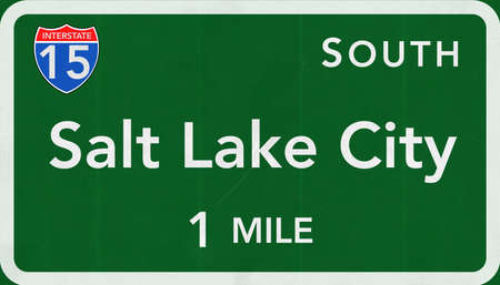 salt lake city: Salt Lake City USA Interstate Highway Sign