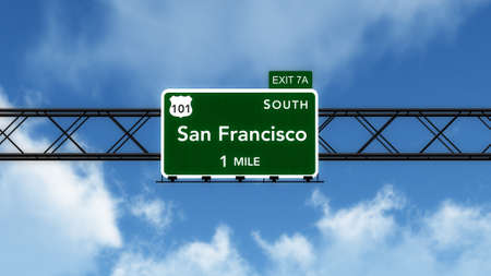 interstate: San Francisco USA Interstate Highway Sign