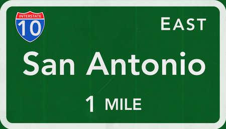 San Antonio USA Interstate Highway Sign photo