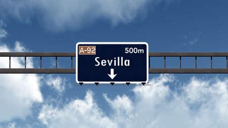 sevilla: Sevilla Spain Highway Road Sign