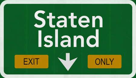 staten: Staten Island USA Highway Sign